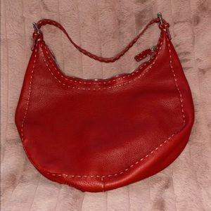 Red leather Fendi bag